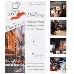 November 2012: \'Dedicace\' @ Carre d\'Artistes Paris