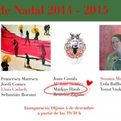 Group-Exhibition Colectiva de Navidad @ Galeria Espai(b) Barcelona December 2014-Jan 2015