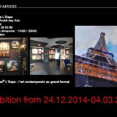Exhibition @ l'EXPO Paris _____24.12.2014-04.03.2015