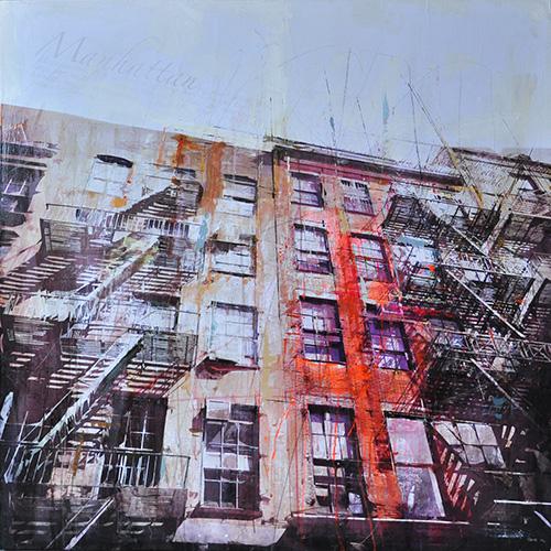 New York 114_120x120cm