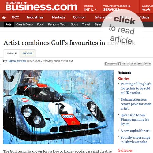 May 2013: article @ arabian Business.com