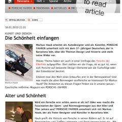 2010: Article @ Porsche Fahrer Magazine_Germany