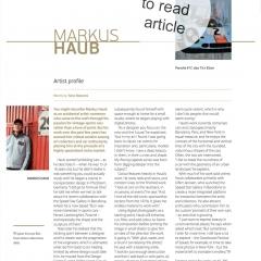 January 2012: Article @ ORYX premium, Qatar Airways first class magazine