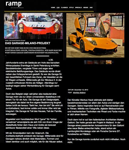 December 2013: article @ ramp: Das Garagen Milano Projekt